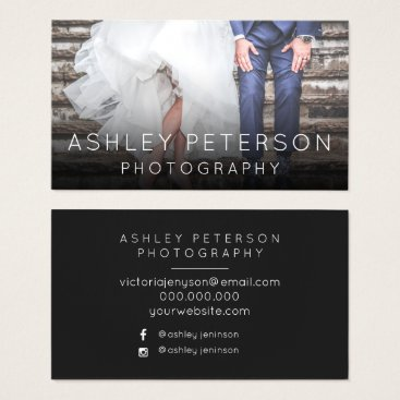 girly_trend Simple wedding photography minimal typography business card