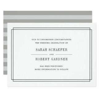 Simple Wedding Postponement Announcement Card