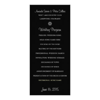 Simple Wedding Programs (Black) Custom Rack Cards