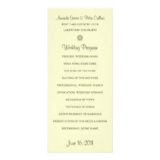 Simple Wedding Programs (Cream) Personalized Rack Card