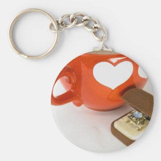 Simple Wedding Proposal Keychain
