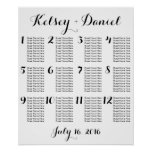 Simple Wedding Seating Chart | Poster