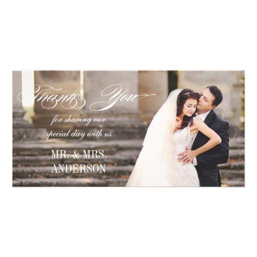 simple wedding thank you card zazzle