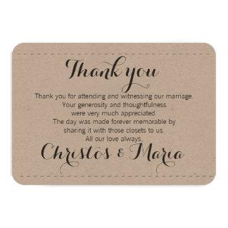 Simple Wedding Thank you card