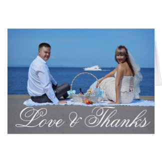 Simple Wedding Thank You | Photo Note Card