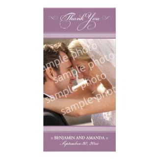 Simple Wedding Thank You Photocard (lavender) Photo Card