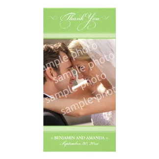 Simple Wedding Thank You Photocard (mint) Picture Card