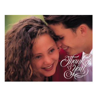 Simple Wedding Thank You Picture Postcard