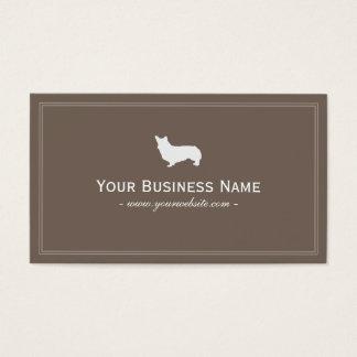 Simple Welsh Corgi Business card