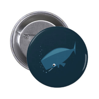 Simple Whale Pinback Button