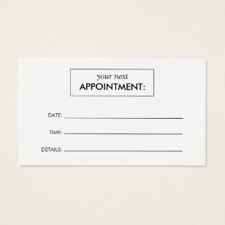 Medical Appointment Business Cards Templates Zazzle - Business card appointment template