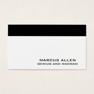 Simple White & Black Business Card