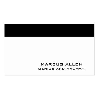 Simple White & Black Double-Sided Standard Business Cards (Pack Of 100)
