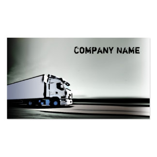 Simple White & Black Truck On The Road Card Double-Sided Standard Business Cards (Pack Of 100)
