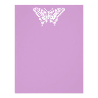 Simple White Butterfly Letterhead Template