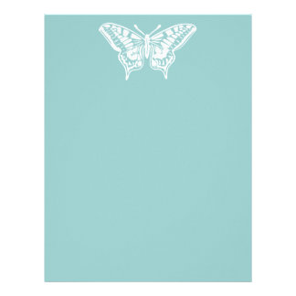 Simple White Butterfly Personalized Letterhead