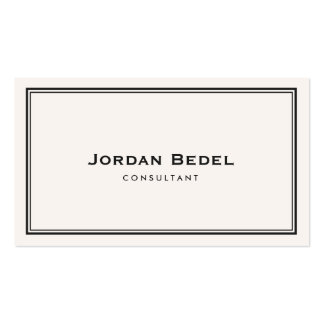 Simple White Classic Professional Business Card