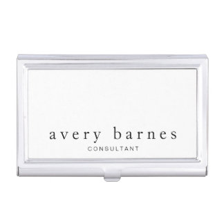 Simple White Creative Professional Modern Business Card Holder