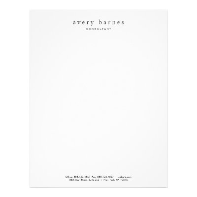 rectangular company logo with address custom letterhead zazzlecom