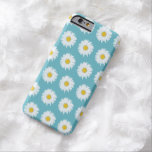 Simple White Daisy on Blue Pattern iPhone 6 Case