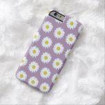 Simple White Daisy on Purple Pattern iPhone 6 Case