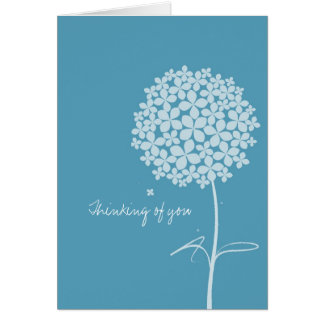 Simple White Dandelion Greeting Card