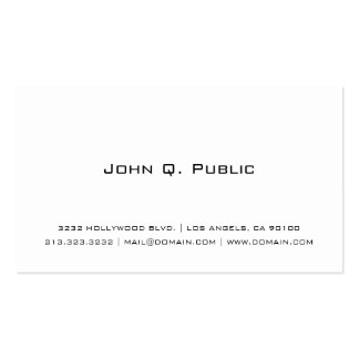 Simple White Double-Sided Standard Business Cards (Pack Of 100)