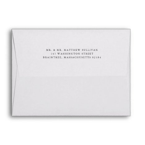 Simple White Envelope with Return Address