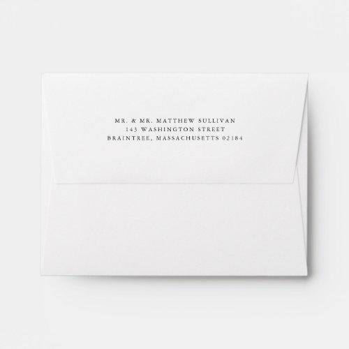 Simple White Envelope with Return Address