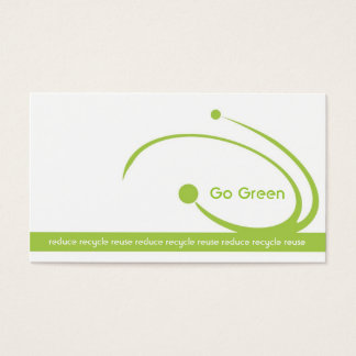 Simple White Environmental Engineers Business Card
