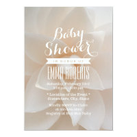 Simple White Floral Baby Shower 5