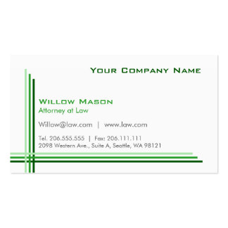 Simple White Framed, Professional Business Card
