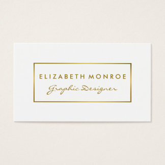 Simple White & Gold Foil Effect Business Card