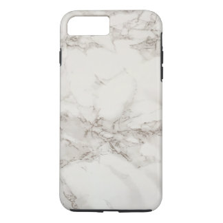 Simple White Gray Marble Texture Personalized iPhone 8 Plus/7 Plus Case