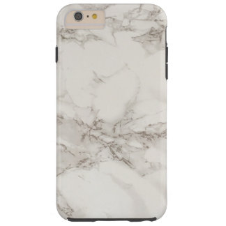 Simple White Gray Marble Texture Personalized Tough iPhone 6 Plus Case