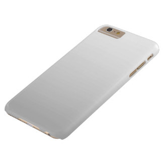 Simple White Gray Ombre Plain Barely There iPhone 6 Plus Case
