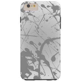 Simple White Gray Ombre Plain Personalized Tough iPhone 6 Plus Case