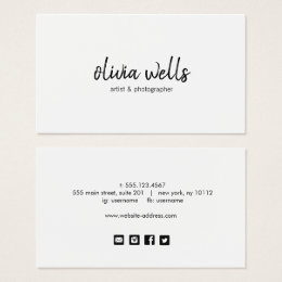 Social Media Business Cards Templates Zazzle - Social media business card template