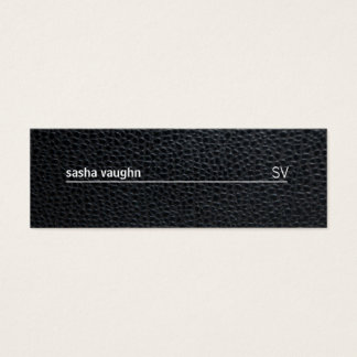 Simple White Line / Leather Mini Business Card