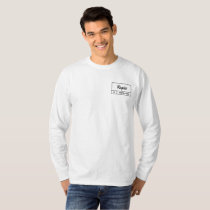 simple white long-sleeve with Regiis design. T-Shirt