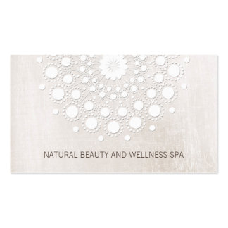 Simple White Mandala Beauty and Day Spa Business Card