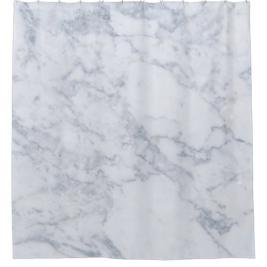 Simple White Marble Texture Shower Curtain