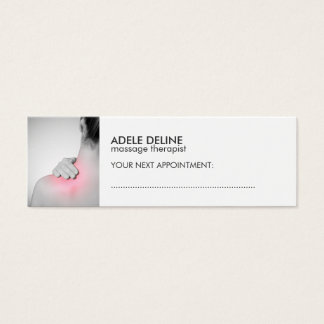 Simple White Massage Therapist Appointment Card