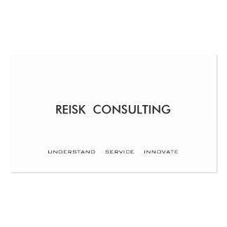 Simple White Modern Consulting Professional Business Cards