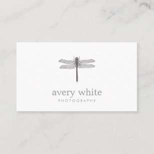 simple white nature professional photography business card - Photography Business Cards