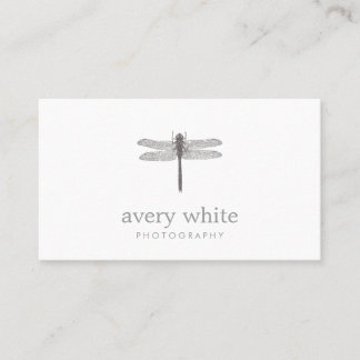 Simple White Nature Professional Photography Business Card