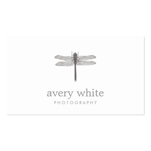 Simple White Nature Professional Photography Double-Sided Standard Business Cards (Pack Of 100)