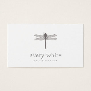 Simple White Nature Professional Photography Business Card at Zazzle