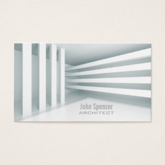 Simple White Parallel Lines Design Architect Card