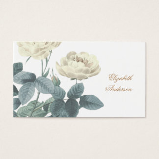 Simple White Rose Business Card
